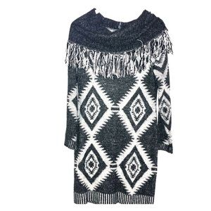 Romeo & Juliet Couture Cowl Neck Sweater Dress LG